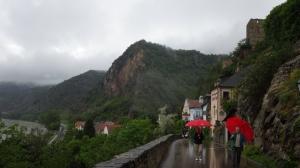 A look back toward Weissenkirchen